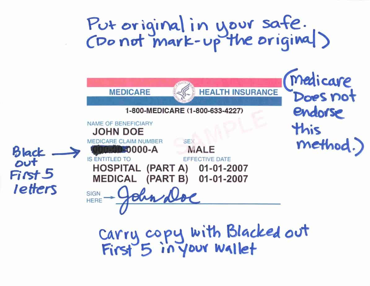 Identity Theft Medicare Card