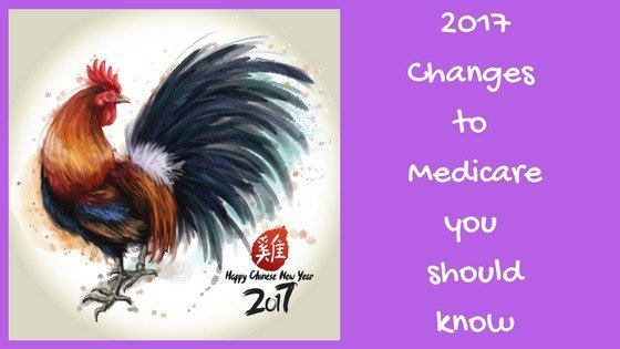 image of chicken, Chinese new year, with text 2017 Changes to Medicare you should know