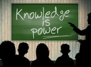 """Image stating """"knowledge is power"""" depicting Medicare and Diabetes Education"""