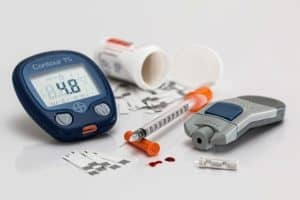 image depicting Medicare Covered diabetic test strips, diabetic monitors, and syringes