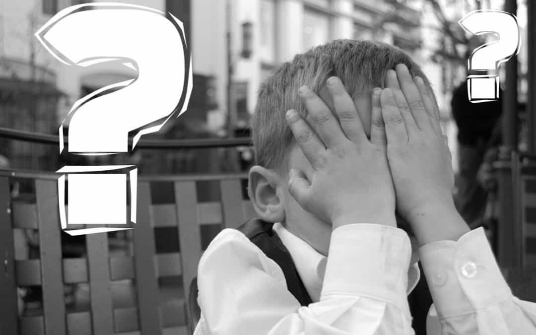 Kid holding his head when questioned do you have to sign up for Medicare?