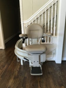 "image of a stair lift for article, ""Will Medicare Pay for my Stair Lift""?"