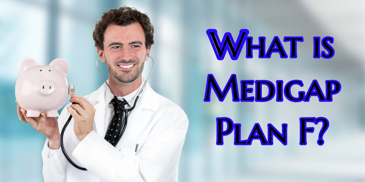 Image of a Doctor with a stethoscope to a piggy bank depicting Medigap Plan F