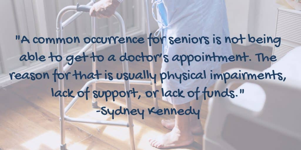 senior doctor's appointment