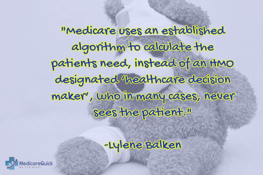 Medicare uses an established algorithm