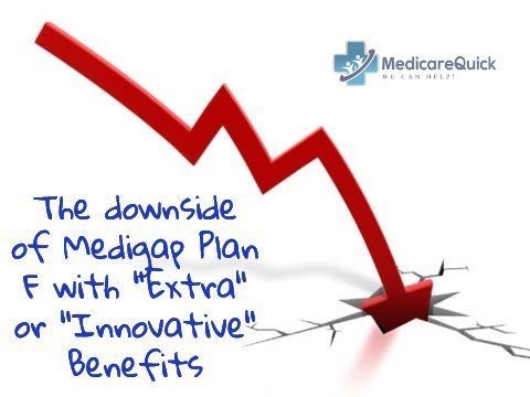 the downside of extra or innovative benefits for the Plan F Medigap Insurance Policy